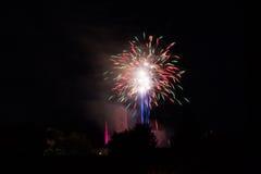 Πυροτεχνήματα πέρα από την εκκλησία Loretto Στοκ Φωτογραφίες