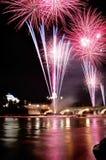 πυροτεχνήματα παρουσίασης Στοκ φωτογραφία με δικαίωμα ελεύθερης χρήσης