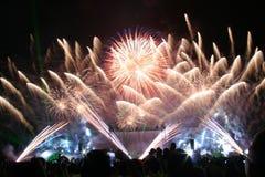 πυροτεχνήματα παρουσία&sigma Στοκ Φωτογραφίες