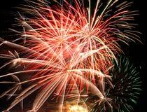 πυροτεχνήματα παρουσία&sigma Στοκ εικόνες με δικαίωμα ελεύθερης χρήσης