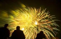 πυροτεχνήματα παρουσία&sigma Στοκ εικόνα με δικαίωμα ελεύθερης χρήσης