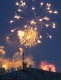 πυροτεχνήματα πόλεων Στοκ εικόνα με δικαίωμα ελεύθερης χρήσης