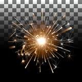 Πυροτεχνήματα σε ένα διαφανές υπόβαθρο Στοκ Εικόνες