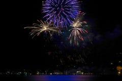 Πυροτεχνήματα σε κακό Wiessee, λίμνη Tegernsee στοκ φωτογραφία με δικαίωμα ελεύθερης χρήσης