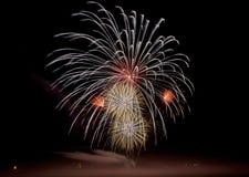 Πυροτεχνήματα σε Gunzenhausen Στοκ Εικόνες