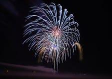 Πυροτεχνήματα σε Gunzenhausen Στοκ Φωτογραφία