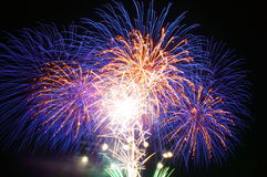 Πυροτεχνήματα σε Omimaiko, Otsu, Shiga, Ιαπωνία στοκ φωτογραφία