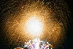 Πυροτεχνήματα σε Omimaiko, Otsu, Shiga, Ιαπωνία στοκ εικόνες