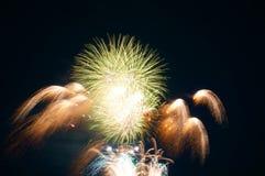 Πυροτεχνήματα σε Omimaiko, Otsu, Shiga, Ιαπωνία στοκ εικόνα