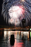 Πυροτεχνήματα σε Stillwater Στοκ φωτογραφία με δικαίωμα ελεύθερης χρήσης