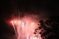 Πυροτεχνήματα στα UNIVERSAL STUDIO Στοκ φωτογραφίες με δικαίωμα ελεύθερης χρήσης