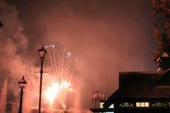 Πυροτεχνήματα στα UNIVERSAL STUDIO Στοκ Φωτογραφία