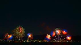 Πυροτεχνήματα στη λίμνη Biwa, Otsu, Shiga, Ιαπωνία στοκ εικόνες με δικαίωμα ελεύθερης χρήσης