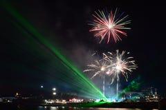 Πυροτεχνήματα στη Βάρνα Στοκ φωτογραφίες με δικαίωμα ελεύθερης χρήσης
