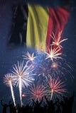 Πυροτεχνήματα στη ημέρα της ανεξαρτησίας του Βελγίου στοκ εικόνα με δικαίωμα ελεύθερης χρήσης