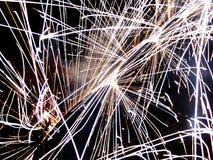 Πυροτεχνήματα στη νέα παραμονή ετών Στοκ Εικόνες