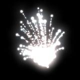 άσπρα πυροτεχνήματα Στοκ Εικόνες
