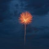 Πυροτεχνήματα στον ουρανό της Μόσχας Στοκ εικόνες με δικαίωμα ελεύθερης χρήσης