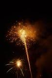 Πυροτεχνήματα στο γύρισμα του έτους Στοκ Φωτογραφία