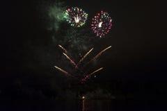 Πυροτεχνήματα στο Μόναχο Στοκ φωτογραφίες με δικαίωμα ελεύθερης χρήσης