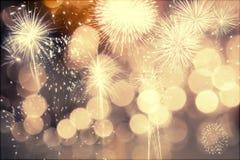 Πυροτεχνήματα στο νέο έτος Στοκ εικόνα με δικαίωμα ελεύθερης χρήσης