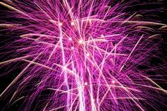 Πυροτεχνήματα στο νυχτερινό ουρανό Στοκ εικόνες με δικαίωμα ελεύθερης χρήσης
