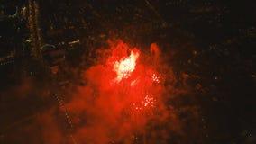 Πυροτεχνήματα στο νυχτερινό ουρανό