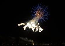 Πυροτεχνήματα στο Reggio Emilia Στοκ Φωτογραφία