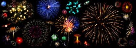 πυροτεχνήματα συλλογή&sigma Στοκ εικόνα με δικαίωμα ελεύθερης χρήσης