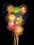 πυροτεχνήματα σύνθεσης Στοκ εικόνα με δικαίωμα ελεύθερης χρήσης