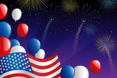 πυροτεχνήματα τέταρτος Ιούλιος ελεύθερη απεικόνιση δικαιώματος