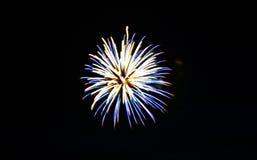 πυροτεχνήματα τέταρτος Ιούλιος Στοκ Φωτογραφία