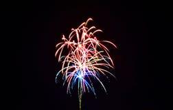 πυροτεχνήματα τέταρτος Ιούλιος Στοκ εικόνα με δικαίωμα ελεύθερης χρήσης