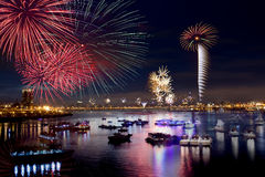 πυροτεχνήματα Ταιπέι πόλε&om στοκ εικόνες