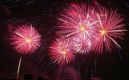 πυροτεχνήματα Ταϊλάνδη θα&u Στοκ Εικόνες