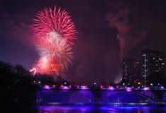 Πυροτεχνήματα 2014 της Γλασκώβης στοκ εικόνες