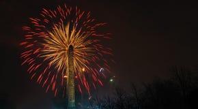 Πυροτεχνήματα 2014 της Γλασκώβης στοκ εικόνα