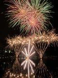 Πυροτεχνήματα της Μελβούρνης Στοκ Φωτογραφίες