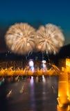 Πυροτεχνήματα του Βανκούβερ Στοκ Φωτογραφίες