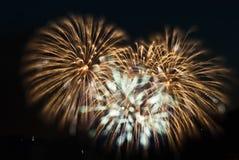Πυροτεχνήματα του Βανκούβερ Στοκ Εικόνες