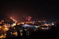 Πυροτεχνήματα του νέου έτους Στοκ Εικόνα