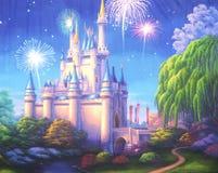 Πυροτεχνήματα του Castle διανυσματική απεικόνιση