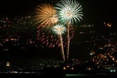 Πυροτεχνήματα του Fort de France για ημέρα 2018 τη νέα ετών - Μαρτινίκα στοκ φωτογραφίες
