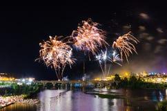 Πυροτεχνήματα 2017 του San Juan στοκ εικόνα με δικαίωμα ελεύθερης χρήσης