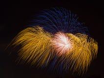 Πυροτεχνήματα τρι-χρώματος Στοκ Εικόνες