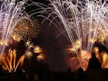 πυροτεχνήματα χρυσά Στοκ Εικόνες