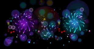 πυροτεχνήματα διανυσματική απεικόνιση