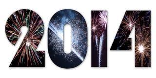 2014 πυροτεχνήματα ελεύθερη απεικόνιση δικαιώματος