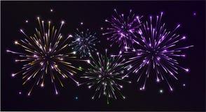 Πυροτεχνήματα Colorfull Στοκ Φωτογραφίες