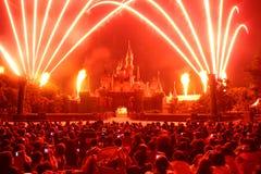 πυροτεχνήματα Disneyland Στοκ Εικόνες